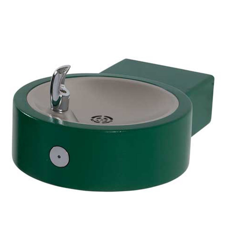 Round Stainless Steel Wall Mounted Drinking Fountain